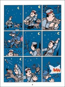 Une planche de la bande dessinée.