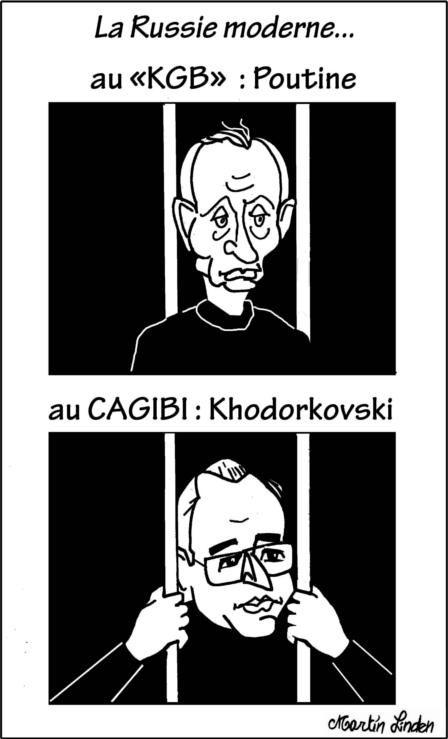 Poutine au KGB, Khodorkovski au Cagibi (derrière les barreaux)