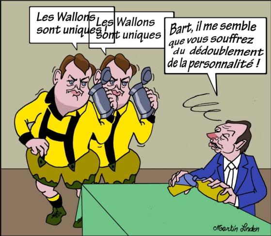 Daerden saoul voit deux Bart De Wever.