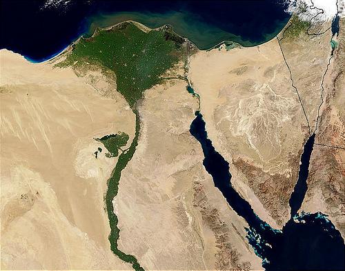 Delta du Nil vu de l'espace.