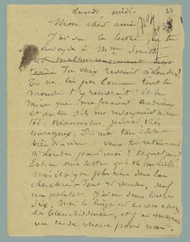 Verlaine en Belgique (Lettre de Rimbaud à Verlaine)