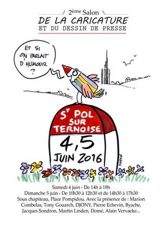 Salon du dessin de Presse 2016 à Saint-Pol sur Ternoise dans le Pas-de-Calais (1)