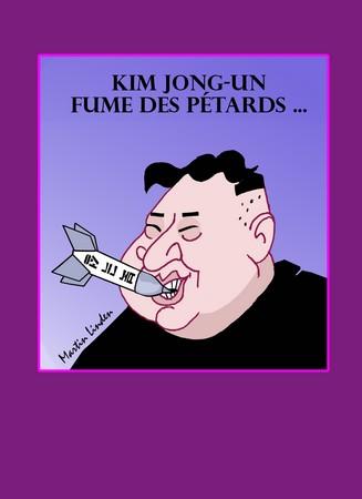 Kim fume des pétards