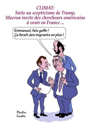 Macron et le climat US