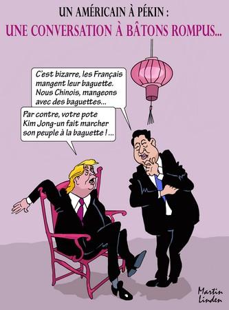 Trump en Chine